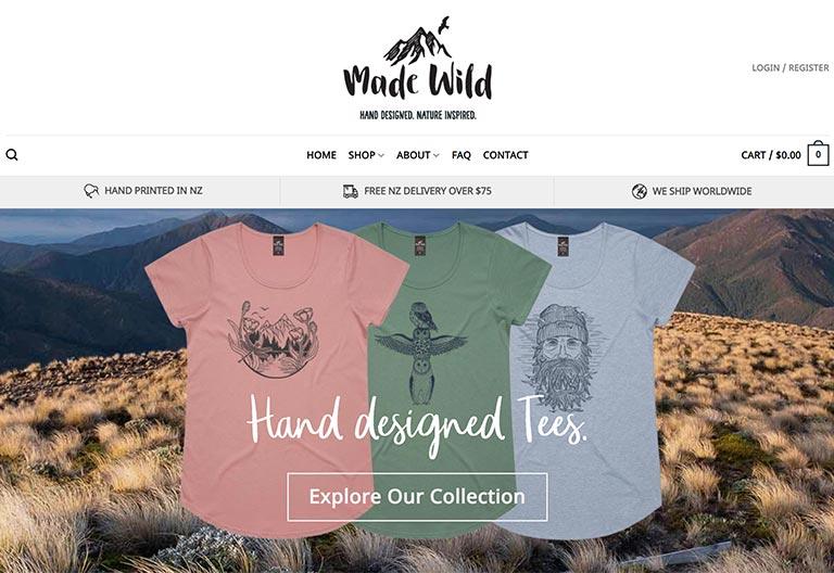 Made Wild Wordpress Website Project