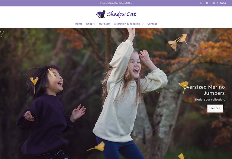 Shadow Cat Shopify Website Project