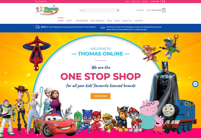 Thomas Online Wordpress Website Project